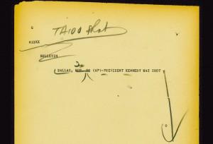 Les télex envoyés par AP lors de l'assassinat de Kennedy n'ont rien à envier à twitter...