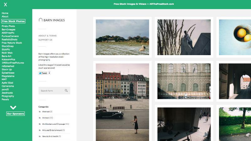 AllTheFreestock, une platforme de 60 sites photo en Creative Commons