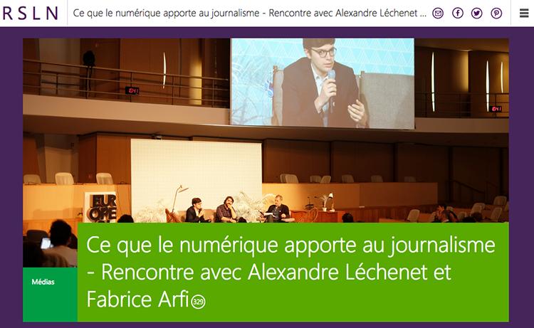 Fabrice Arfi vs Alexandre Léchenet : ce que le numérique apporte au journalisme