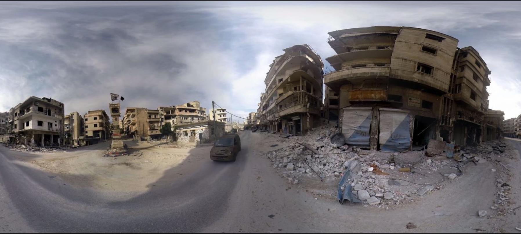 L'agence Okio a réalisé ce reportage dans une veille syrienne dévastée (diffusion: Le Parisien)