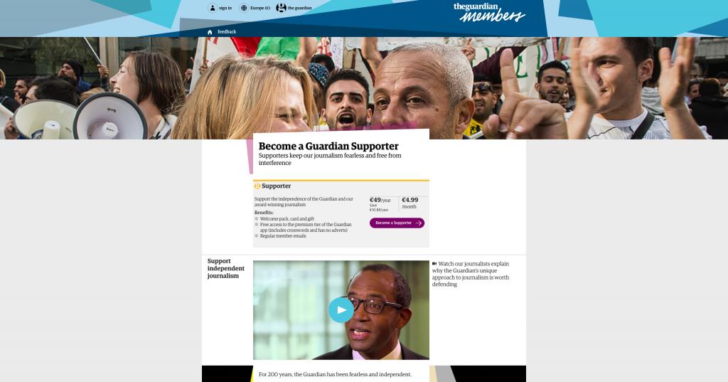 Comment le Guardian a recruté 185.000 adhérents payants en un an