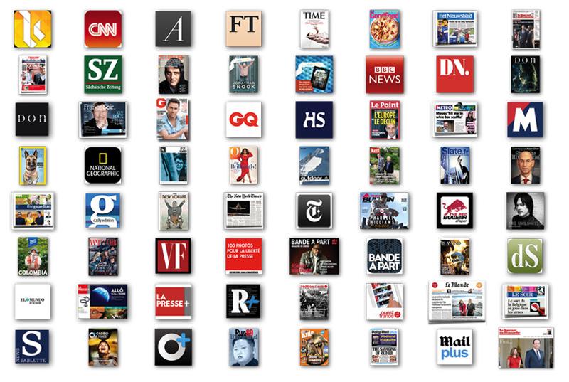 Le top 50 des applis d'information sur tablette
