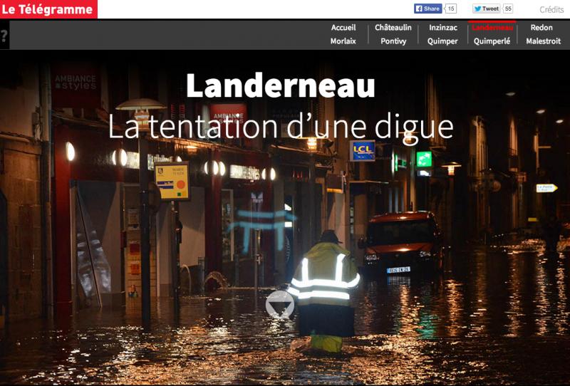 Innondations en Bretagne par Le Télégramme