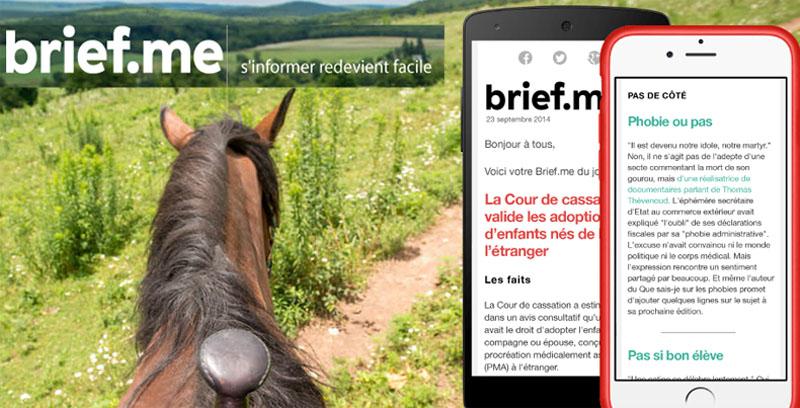 Brief.me, la newsletter française d'info générale, payante
