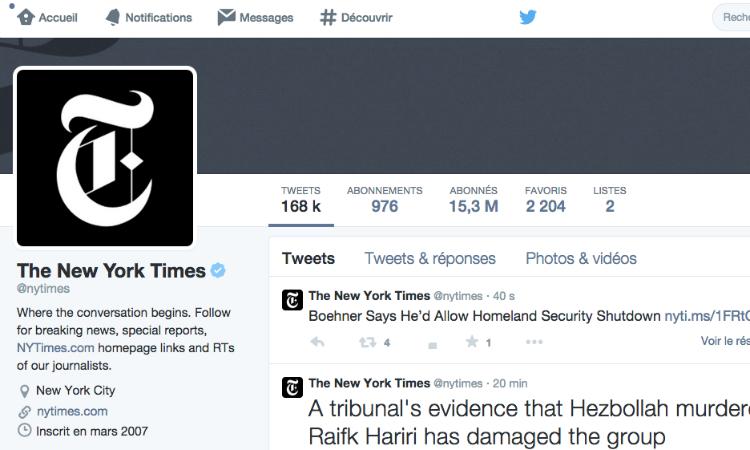 Les conseils Twitter du NYT ©NYTimes